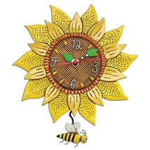 Allen Designs Bee Sunny Whimsical Pendulum Wall Clock - $56.00