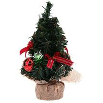 (red)Mini Christmas Tree Ornaments Bonsai Landscape Decor Xmas Home Orna... - $16.00