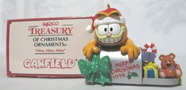 "GARFIELD ENESCO TREASURY 1994 CHRISTMAS ORNAMENT ""MINE, MINE, MINE' #585815 - $24.95"