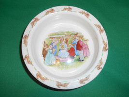 """6 1/4"""" Round Baby Plate, from Royal Doulton, Bunnykins, Queen of May #2 ... - $9.99"""