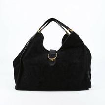 Gucci Soft Stirrup Embossed Suede Hobo Bag - $660.00