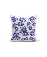 Blue Hibiscus Pillow Cover - $14.98