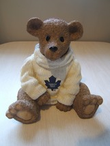 "Toronto Maple Leafs 7.5"" Teddy Bear Resin Coin Bank with stopper NHL Hoc... - $23.05"