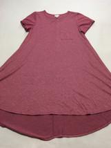 Lularoe M Medium Heathered Cranberry Red Rose Carly Dress Womens - $26.99