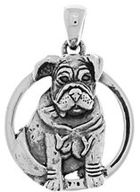 Jewelry Trends Sterling Silver Bulldog Canine Dog Pendant - $35.99