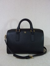 NWT Tory Burch Black Saffiano Leather Classic Emerson Satchel $575 - $394.02