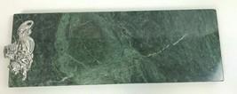 "Arthur Court Marble & Aluminum Lion Rabbit Cheese Tray 17"" x 6"" - $49.49"