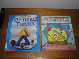 Lot Of 2 The Greedy Triangle Walter Wick's Optical Tricks Large Hardcover Books - $9.49