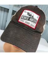 Beaver Hunter Whiskey Beat Up Adjustable Baseball Cap Hat - $12.37