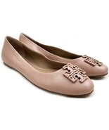 Tory Burch Melinda Ballet Flats Powder Make Up Coated Leather Ballerina ... - $138.00