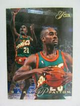 Gary Payton Seattle Supersonics 1996 Fleer Basketball Card Number 189 - $0.98