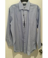 BOBBY JONES COTTON DRESS SHIRT XL LIGHT Blue/PURPLE STRIPED NWT - $21.23
