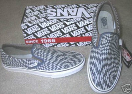 VANS SHOES WARPCHEX BLUE CHECKERBOARD WOMENS 5/MENS 3.5 SLIP ON - $37.39
