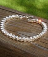 Vintage Napier Crystal Tennis Bracelet, Wave Curve S-Design - $25.00