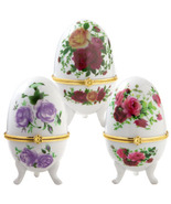 CERAMIC Collectors Egg Trinket Box  Egg Cup 1 ... - $44.70
