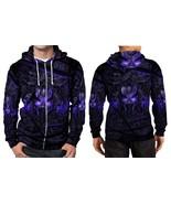 Black Panther Purple Neon Hoodie Zipper Fullprint Men - $51.99+