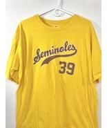 Florida State FSU Seminoles Baseball Style Fanatics T-Shirt XL Yellow  - $9.89