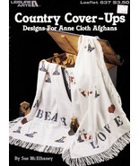 CROSS STITCH COUNTRY COVERUPS AFGHANS L.A. 637 NEW - $5.95