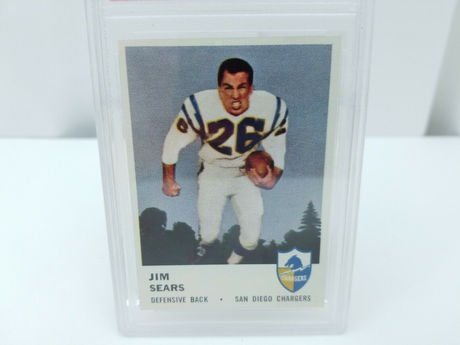 1961 Fleer Football Jim Sears #164 PSA 8 NM-MT 8 San Diego Chargers Card image 4