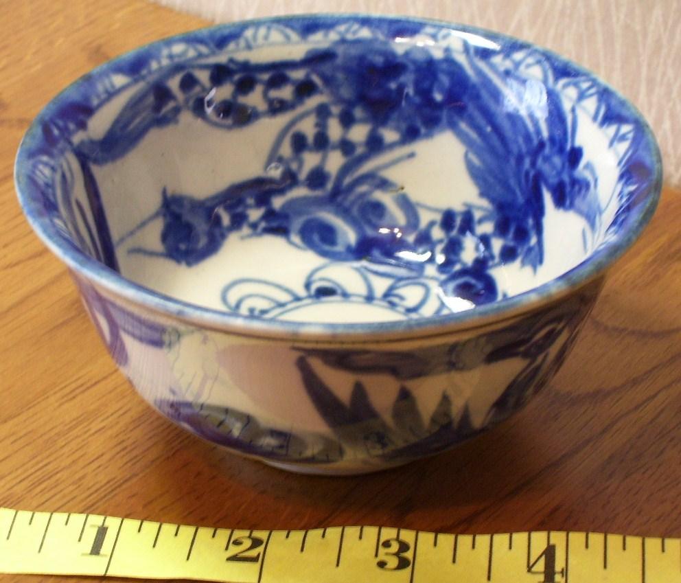 Japanese Imari Ceramic Bowl Nice Design Old Look! - $25.00
