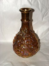 """Vintage Imperial Grape Carnival Glass Decanter Iridescent Amethyst 9 1/8"""" - $24.74"""