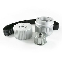 Ford SB Smal Block 302-351w V8 Engine Gilmer Style Pulley Kit (SILVER)
