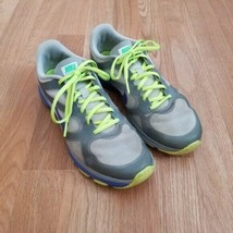 Nike Women's Size 9 Dual Fusion Gray Sneakers Neon Green Lace Up Athleti... - $25.73