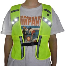 Light Up Reflective Running Vest Safety Gear Usb Rechargeable With Phone... - £30.42 GBP
