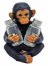 Chimpanzee Salt and Pepper Shaker Holder Figurine by DWK - $21.99