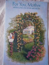 Vintage Paramount For You Mother Birthday Card 1992 - $2.99