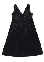 Old Navy Velvet Dress Black Sleeveless Medium wrap V Neck Grunge Babydoll - $13.45