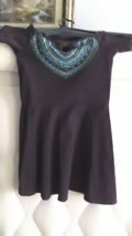 PLACE GIRLS DRESS SZ4 BLACK W/EMBROIDERY - $14.99