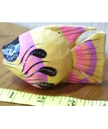 Handcrafted & Painted Wooden Tropical Fish Very Cute! - $5.40
