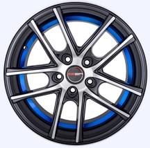 4 Gwg Wheels 17 Inch Black Blue Zero Rim Fits Ford Focus Sedan Titanium 2012-18 - $599.99