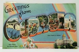 Greetings  from GEORGIA Large Letter Postcard F4 - $4.95