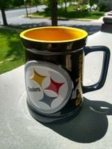 Pittsburgh Steelers 3D Logo  Mug Cup  Black NFL Licensed 24 oz to rim - $14.99