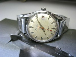 MATINA MATIC AUTOMATIC VINTAGE SWISS WATCH - SUMMIT 25 JEWELS STEEL BAND - $186.07