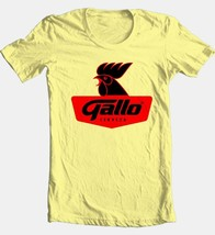 Gallo Beer T-shirt Free Shipping 100% cotton graphic printed yellow tee shirt image 2