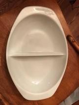Pyrex Divided Serving Dish 1063 1.5 Qt. Vintage Bakeware  - $9.46
