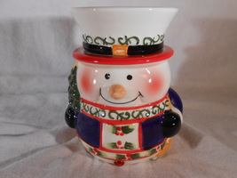 Snowman Candle Warmer Tart Melt Oil Holidays Ceramic Mia Bellas Candles - $22.00
