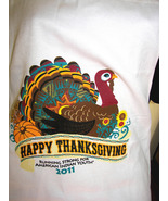CHef's white  apron with  Thanksgiving  turkey - $14.99
