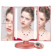 Vanity Makeup Mirror, Lifecolor Cosmetic Mirror with Trifold (Rose Gold) - $37.83