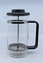 "Bodum French Press Glass Coffee Maker Clear Black 20.5 cm 8 1/8"" Tall Vi... - $54.10 CAD"