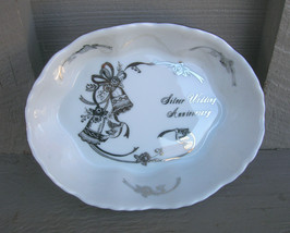 Old Vintage Lefton Silver Wedding Anniversary Open Candy Dish 03106 Japan - $9.89