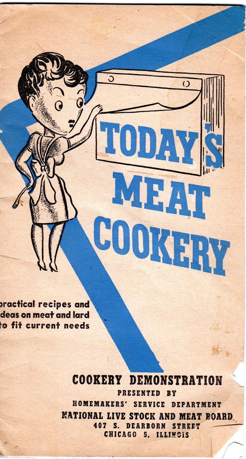 Primary image for Today's Meat Cookery Practical Recipes and Ideas National Stock and Meat Board