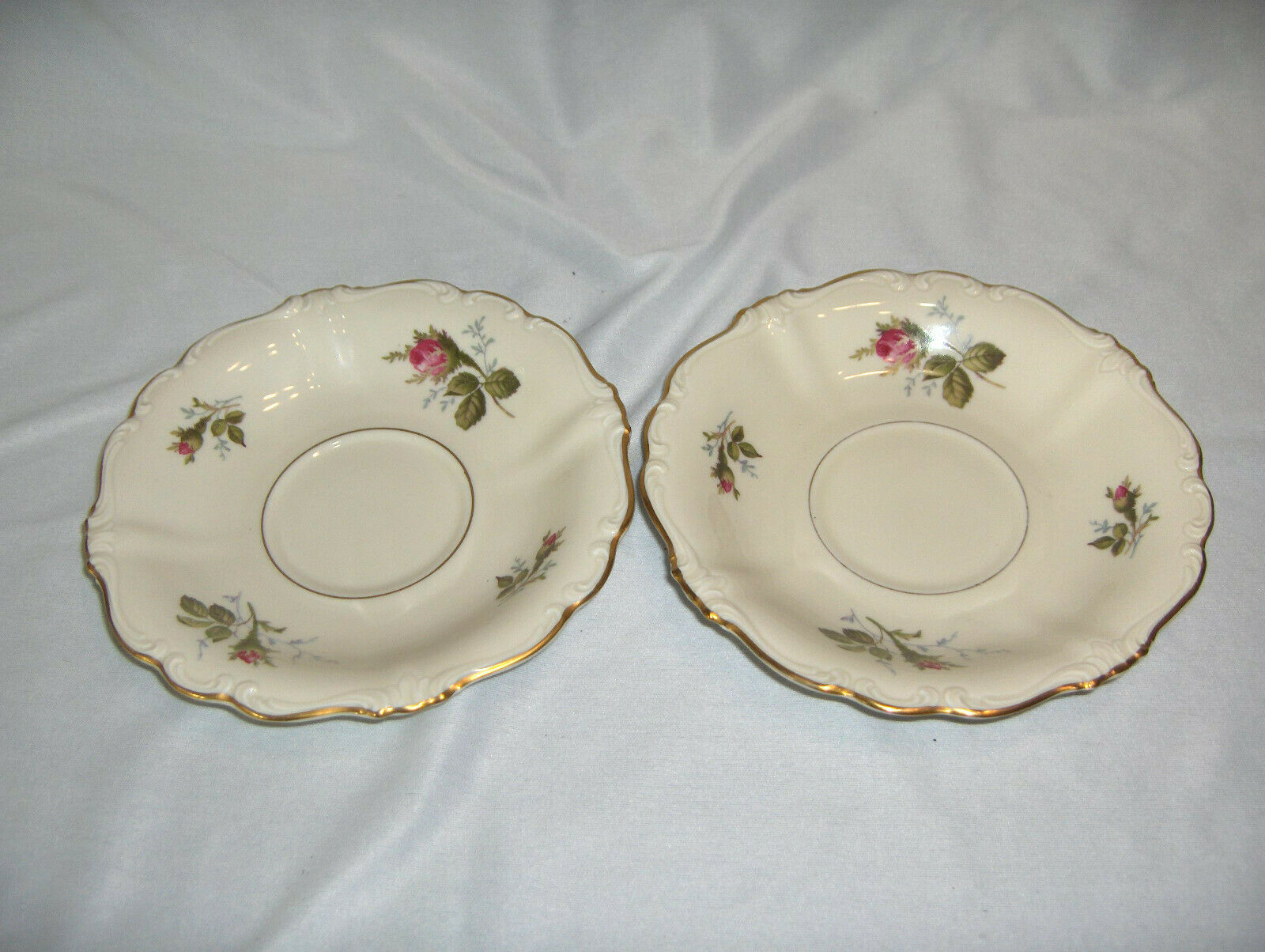 Primary image for 2 Vintage Rosenthal China Pompadour Selb Germany Saucers For Footed Cups NICE