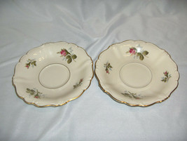 2 Vintage Rosenthal China Pompadour Selb Germany Saucers For Footed Cups NICE - $24.75