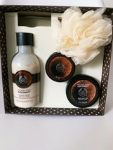 The Body Shop Coconut Body Essentials Boxed Gift Set Missing Soap - $24.18