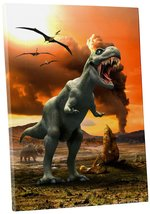 "Pingo World 0722Q9RXJWY ""T-Rex Dinosaur Children Kids"" Gallery Wrapped Canvas Wa - $53.41"