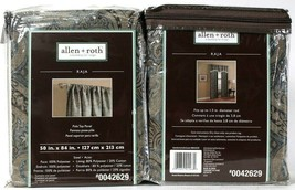 "2 Count Allen & Roth 0042629 Raja 50"" X 84"" Steel 100% Polyester Pole Top Panel - $37.99"